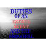 duties of an estate agent and principal