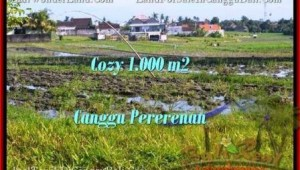 Exotic PROPERTY CANGGU 1,000 m2 LAND FOR SALE TJCG177