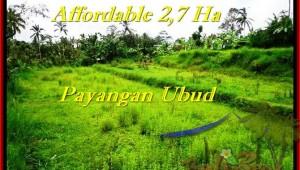 Exotic PROPERTY LAND SALE IN Ubud Payangan BALI TJUB469