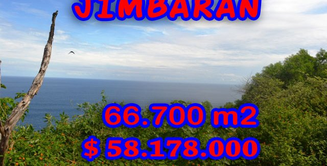 Extraordinary Property for sale in Bali, land for sale in Jimbaran Bali  – 66.700 m2 @ $ 872