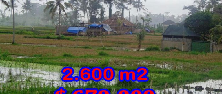 Stunning Land for sale in Bali, rice fields view in Ubud Bali – TJUB281