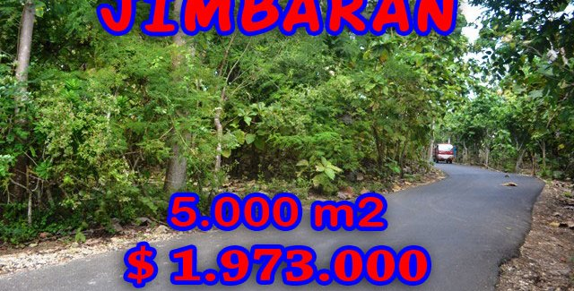 Land for sale in Jimbaran Ungasan, Magnificent Property in Bali  – 5.000 sqm @ $ 394