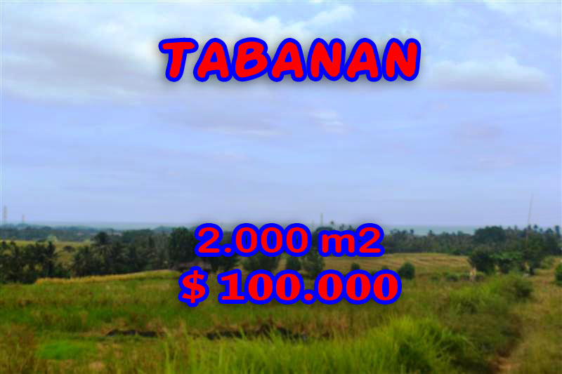 Land for sale in Bali, Spectacular view Tabanan Bali – TJTB057