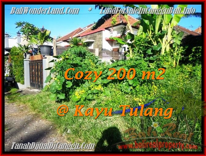 Exotic PROPERTY 200 m2 LAND IN Canggu BALI FOR SALE TJCG173