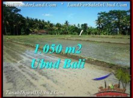 Magnificent 1,050 m2 LAND IN UBUD BALI FOR SALE TJUB544