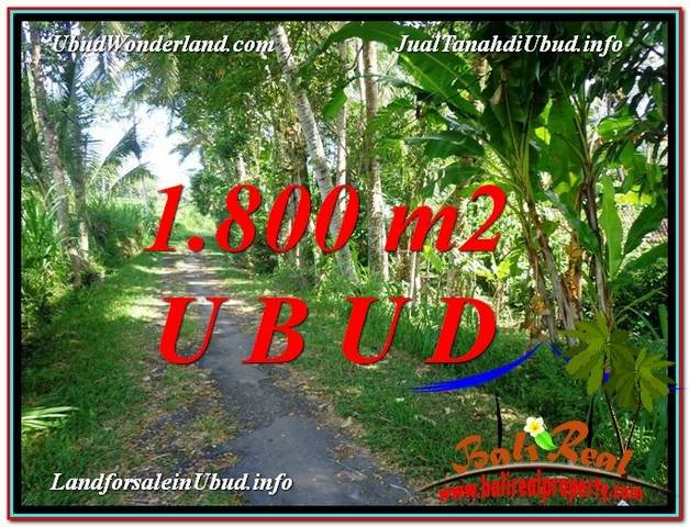 1,800 m2 LAND IN UBUD BALI FOR SALE TJUB597