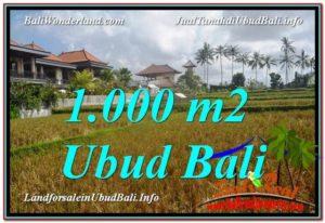 UBUD 1,000 m2 LAND FOR SALE TJUB618