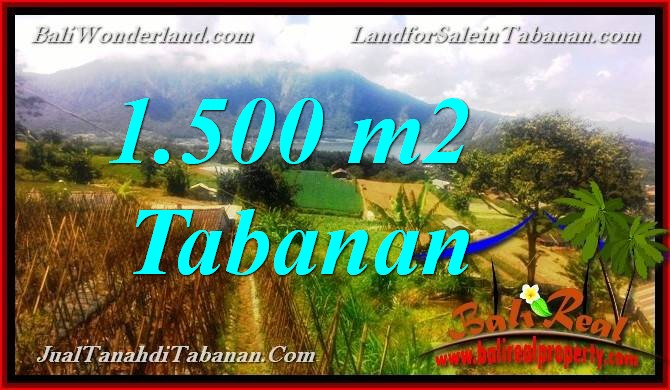 Magnificent PROPERTY TABANAN BALI 1,500 m2 LAND FOR SALE TJTB373