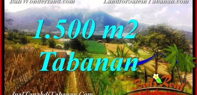 Magnificent 1,500 m2 LAND FOR SALE IN TABANAN Bedugul TJTB373