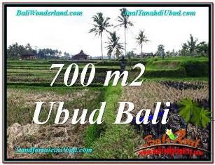 Exotic UBUD BALI 700 m2 LAND FOR SALE TJUB666