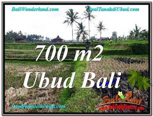 Exotic UBUD BALI 700 m2 LAND FOR SALE TJUB666
