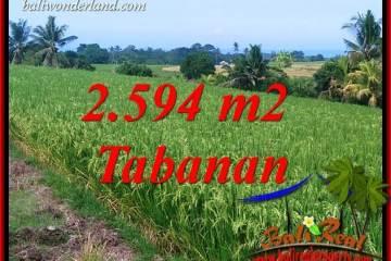 Magnificent Property 2,594 m2 Land sale in Tabanan Selemadeg TJTB414
