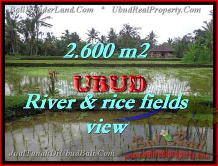 FOR SALE Exotic PROPERTY 2,600 m2 LAND IN UBUD BALI TJUB421