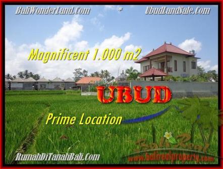 Affordable PROPERTY UBUD BALI 1.000 m2 LAND FOR SALE TJUB445