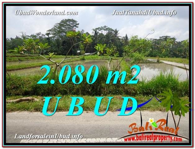 Affordable PROPERTY UBUD BALI 2,080 m2 LAND FOR SALE TJUB582