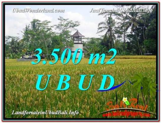 Exotic 3,500 m2 LAND IN UBUD BALI FOR SALE TJUB596