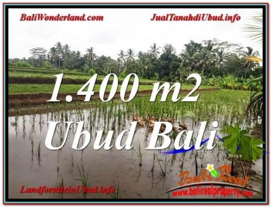 FOR SALE Magnificent 1,400 m2 LAND IN UBUD BALI TJUB615