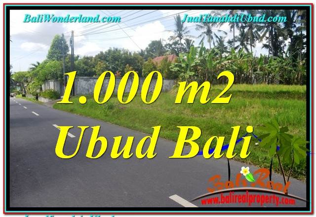 FOR SALE Affordable PROPERTY 1,000 m2 LAND IN Sentral / Ubud Center BALI TJUB649