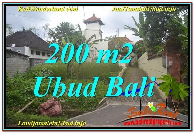 Affordable PROPERTY 200 m2 LAND SALE IN Sentral / Ubud Center BALI TJUB632