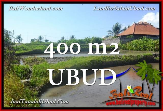 Magnificent UBUD BALI 400 m2 LAND FOR SALE TJUB659