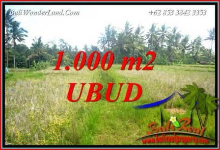 Exotic 1,000 m2 Land in Ubud Bali for sale TJUB727