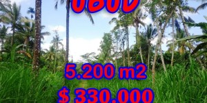Land for sale in Bali, Exceptional property in Ubud Bali – 5,200 sqm @ $ 63
