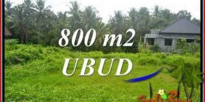 Magnificent 800 m2 Land sale in Ubud Bali TJUB706