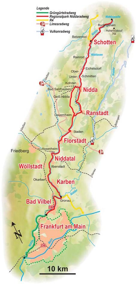 Nidda-Route im Überblick
