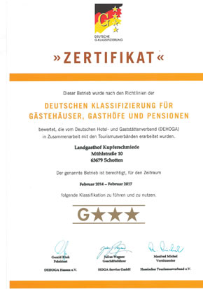 Deutsche G-Klassifizierung