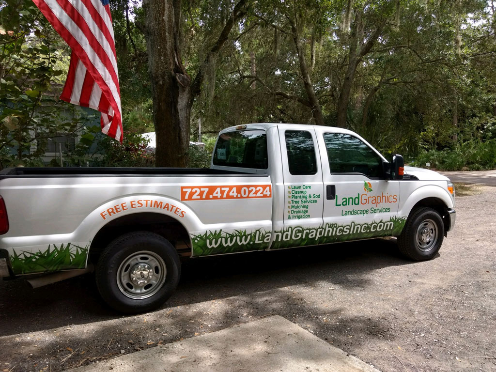 Land Graphics Lawn Maintenance Truck