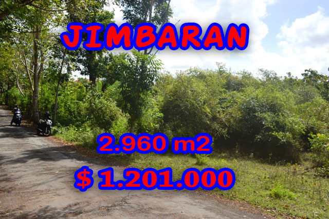 Land for sale in Jimbaran Ungasan, Magnificent Property in Bali  – 2.960 m2 @ $ 406