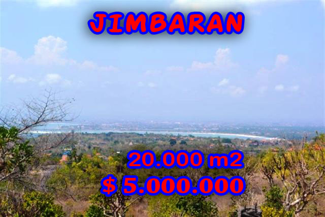 Magnificent Property for sale in Bali Indonesia, land for sale in Jimbaran Bali  – 20.000 m2 @ $ 250