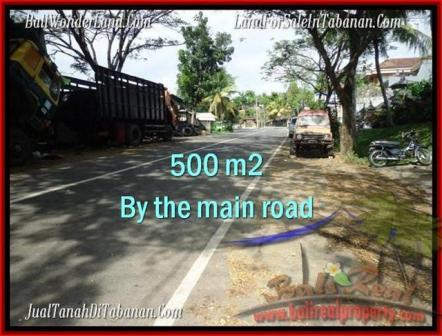 Magnificent 500 m2 LAND IN TABANAN BALI FOR SALE TJTB202