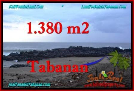 Exotic 1,380 m2 LAND IN TABANAN BALI FOR SALE TJTB270