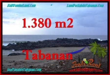 Exotic 1,380 m2 LAND IN TABANAN BALI FOR SALE TJTB270