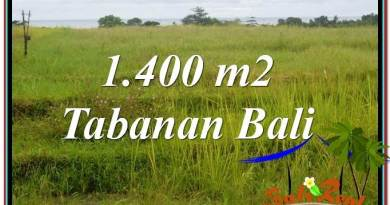 Exotic 1,400 m2 LAND IN TABANAN FOR SALE TJTB309