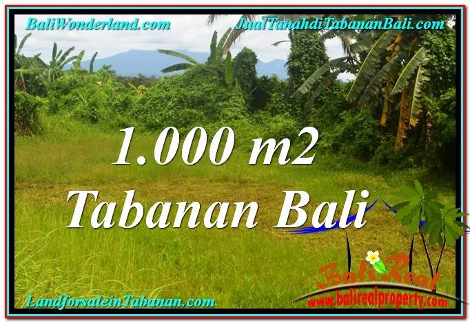 Magnificent TABANAN BALI 1,000 m2 LAND FOR SALE TJTB311