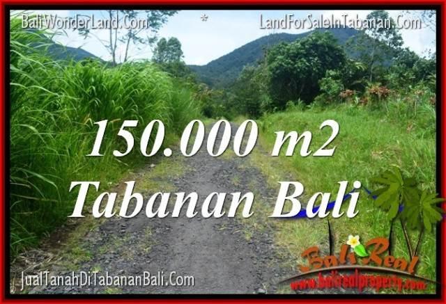 Magnificent 150,000 m2 LAND IN Tabanan Penebel FOR SALE TJTB318