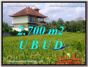 Beautiful 2,700 m2 LAND FOR SALE IN Ubud Tegalalang TJUB595
