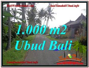 Exotic PROPERTY UBUD BALI 1,000 m2 LAND FOR SALE TJUB604
