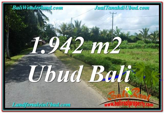 FOR SALE Magnificent PROPERTY 1,942 m2 LAND IN UBUD BALI TJUB626