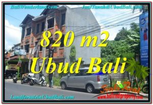 Exotic 820 m2 LAND SALE IN UBUD BALI TJUB643