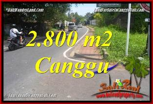 Exotic 2,800 m2 LAND IN CANGGU BALI FOR SALE TJCG223