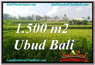 Beautiful UBUD TEGALALANG BALI 1,500 m2 LAND FOR SALE TJUB667