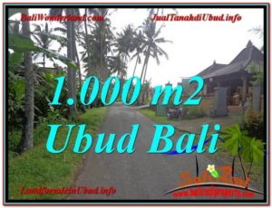 Affordable PROPERTY 1,000 m2 LAND FOR SALE IN UBUD BALI TJUB604
