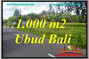 FOR SALE Beautiful 1,000 m2 LAND IN UBUD BALI TJUB649