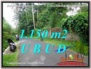 Exotic 1,150 m2 LAND IN UBUD BALI FOR SALE TJUB576