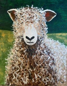 Cotswold Sheep painting by Michelle Verdegem