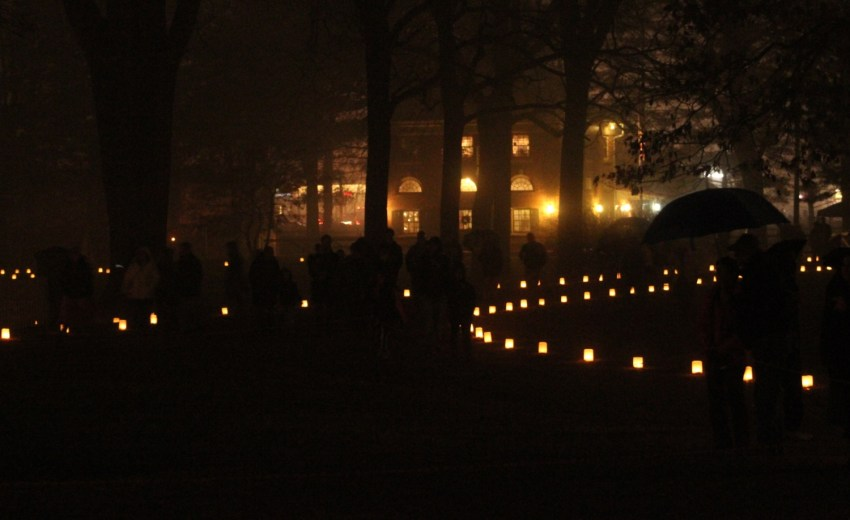luminaries and visitors on bonfire night 2018