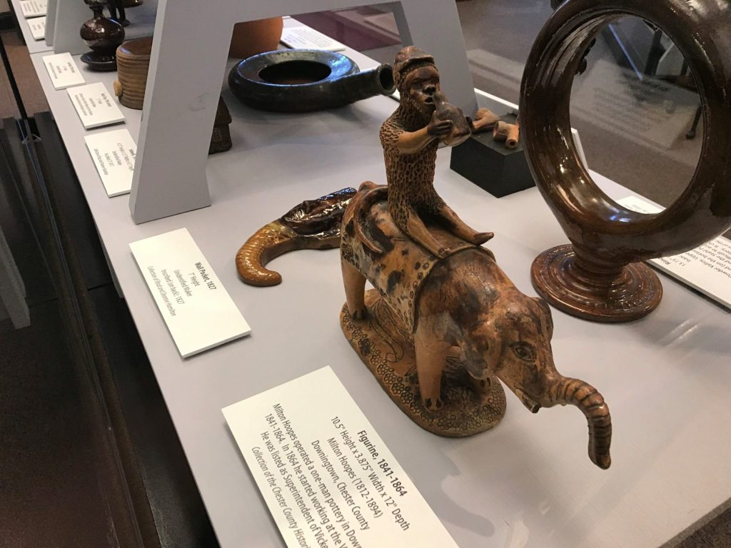 redware figurine at Landis Valley Museum